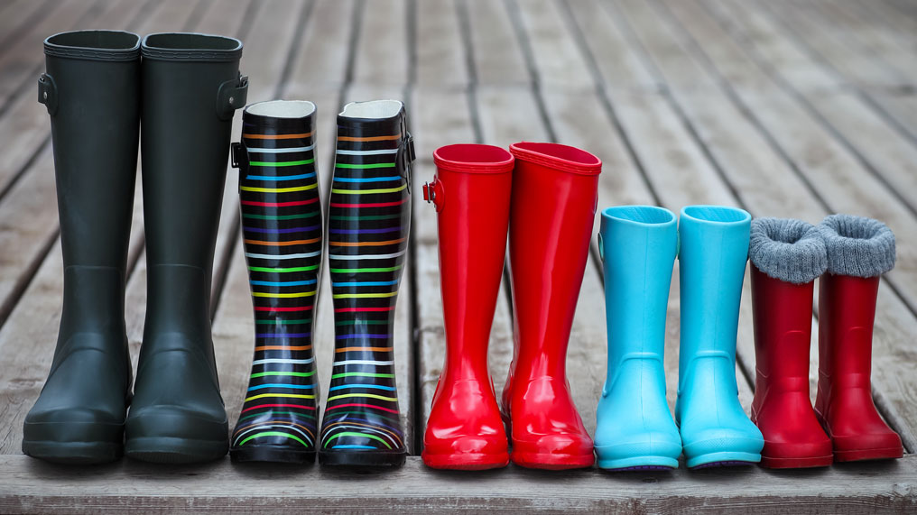 A family of wellington boots