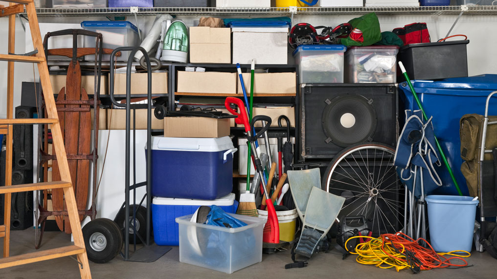 A garage full of things.