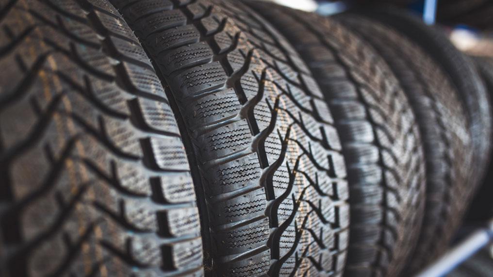 a closeup of a tyre